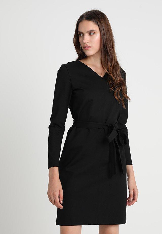WORKWEAR SHIFT DRESS - Jerseyjurk - black