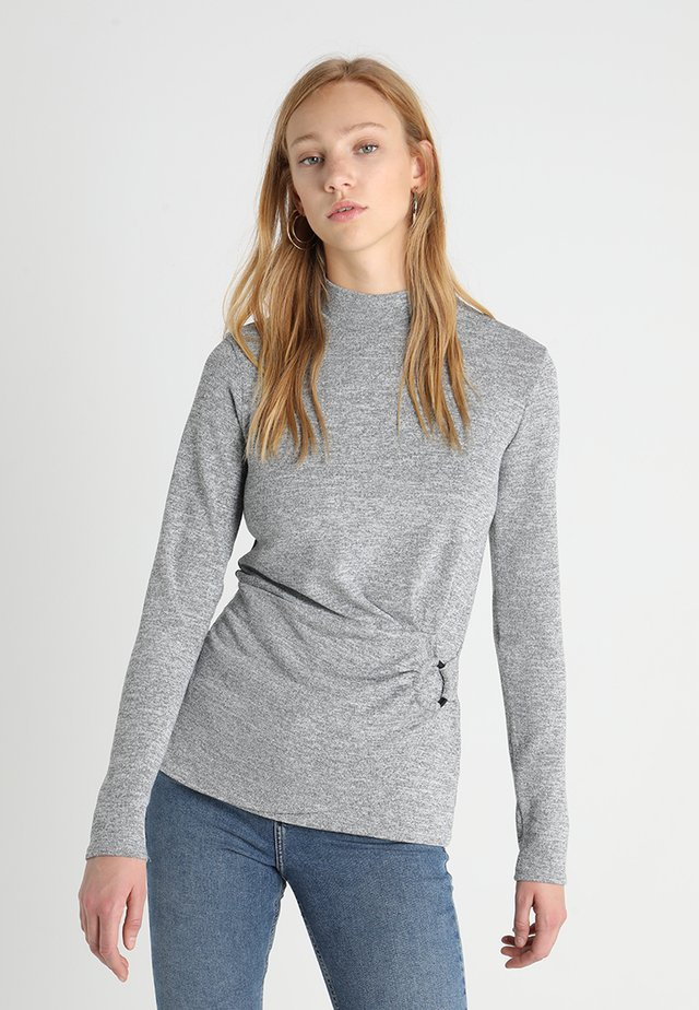 SLUBBY BUCKLE SIDE - Maglione - grey