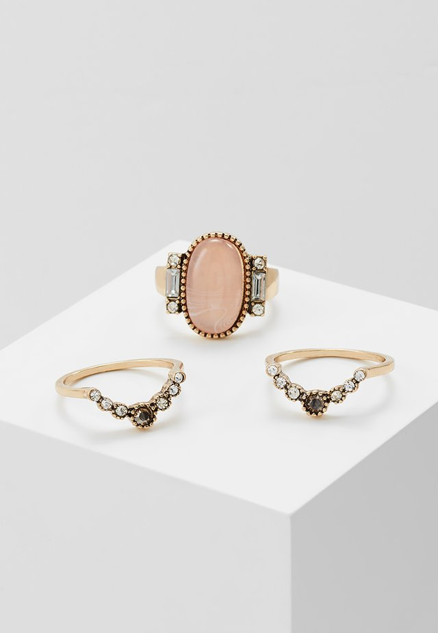 HUG 3 PACK - Bague - pink/gold-coloured