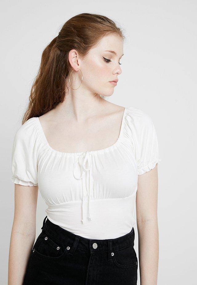 MILKMAID - T-shirt con stampa - cream