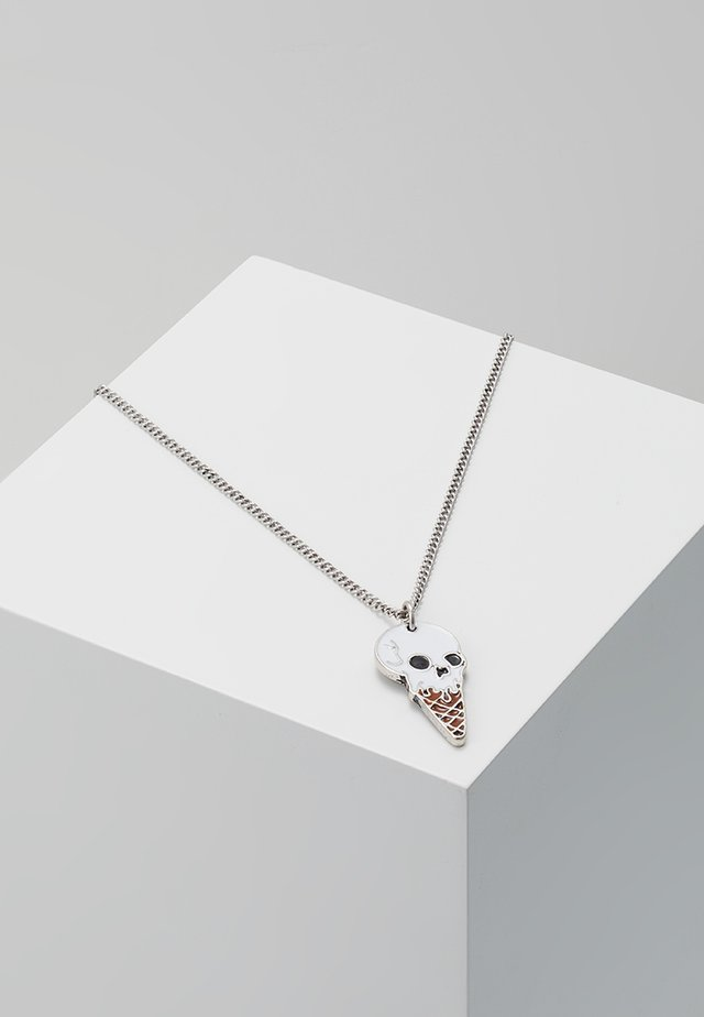 SKULLNETTO NECKLACE - Collier - silver-coloured