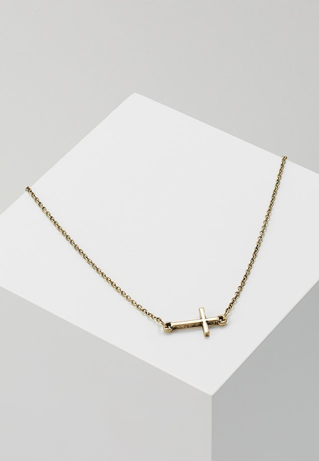 CRUCIFIX NECKLACE - Kaulakoru - gold-coloured