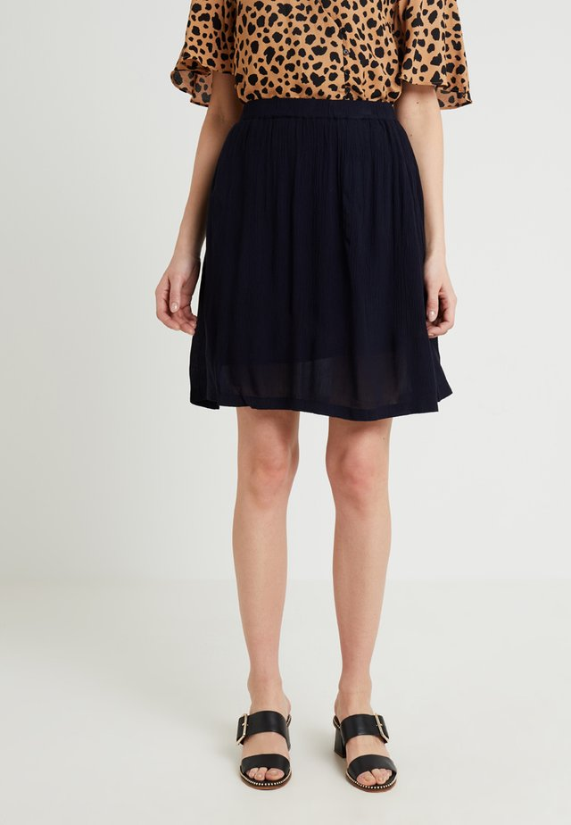 KADALUZ ANNA SKIRT - A-line skirt - midnight marine