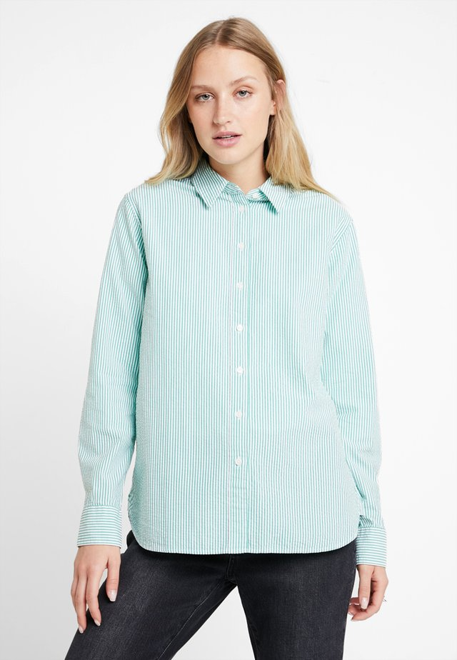 EBRU - Button-down blouse - green