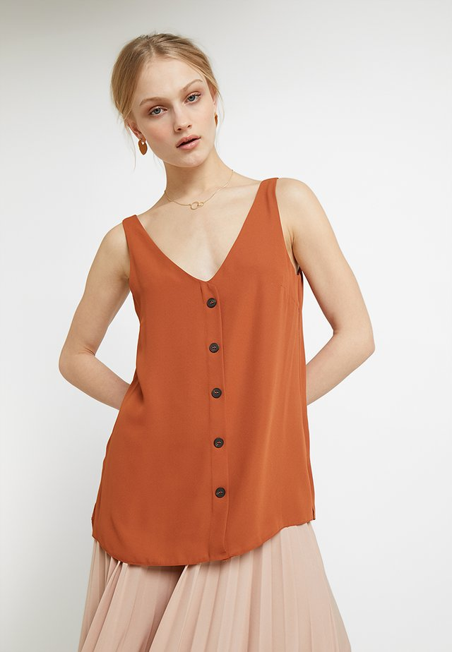 BUTTON THROUGH CAMI - Camicetta - rust