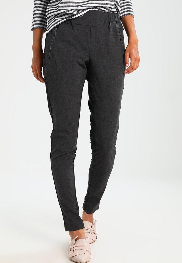 JILLIAN VILJA - Pantaloni - dark grey melange