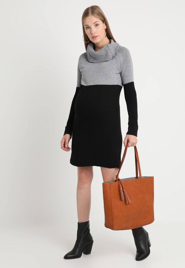 FLAVIA - Jumper dress - grey/black