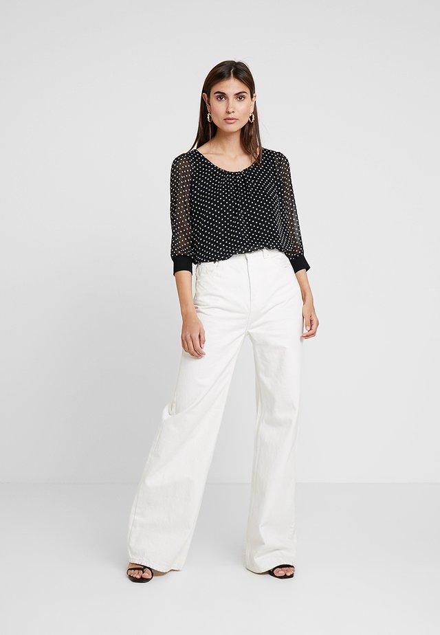 Blouse - white/black