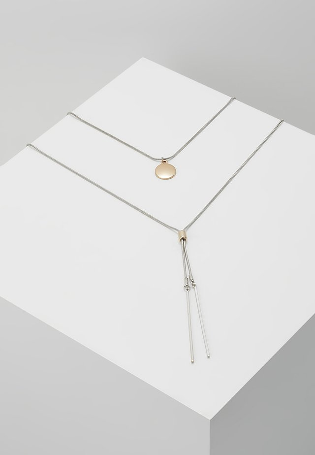 FINE 2ROW LARIAT - Halsband - silver-coloured