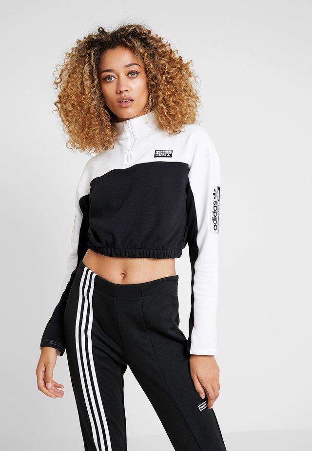 Sweatshirt - white/black