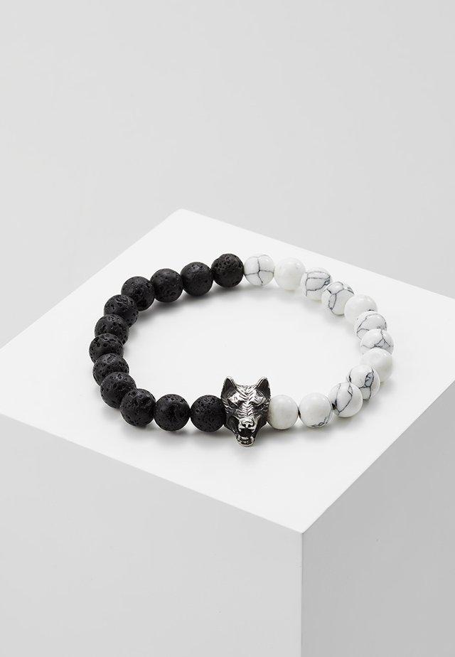 Pulsera - black/silver-coloured/white