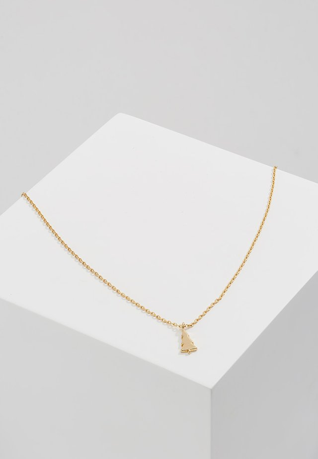 MERRY BRIGHT NECKLACE GIFTCARD - Collar - pale gold-coloured