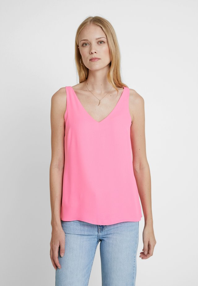 V NECK CAMI - Blouse - neon pink