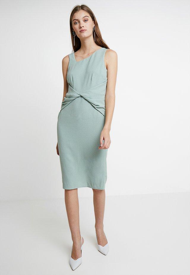 SLEEVELESS WAIST MANIPULATED DRESS - Sukienka etui - mint