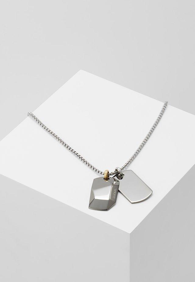 DOUBLE DOGTAGS - Necklace - grau