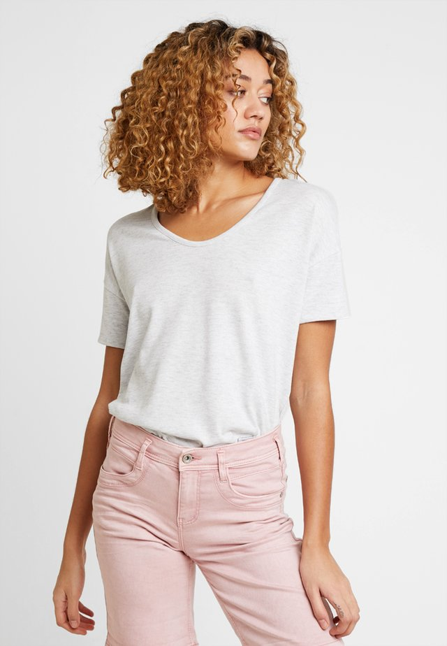 SOFINA - T-shirt basic - pure grey melange