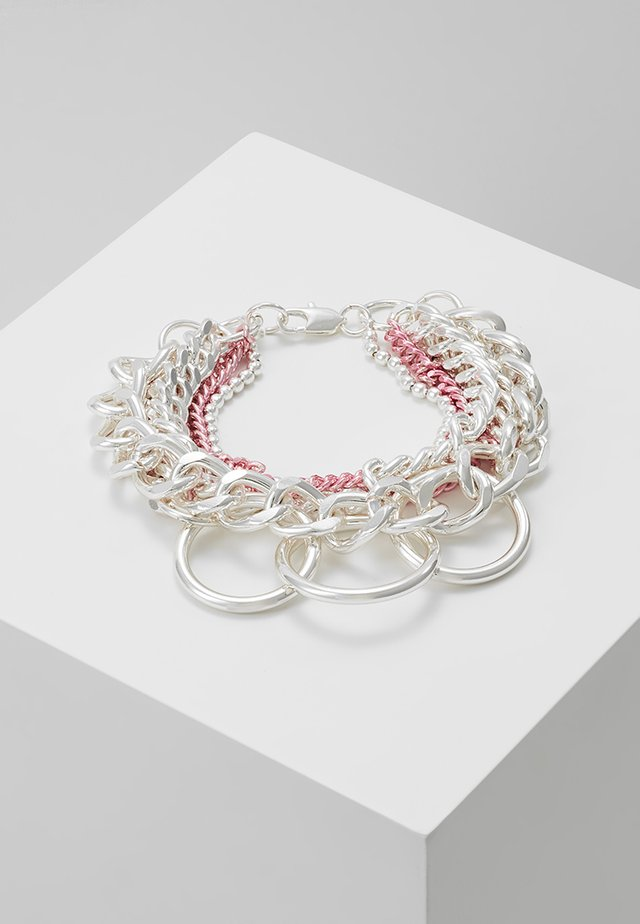 KAILASH MIX CHAIN - Armbånd - pink/white