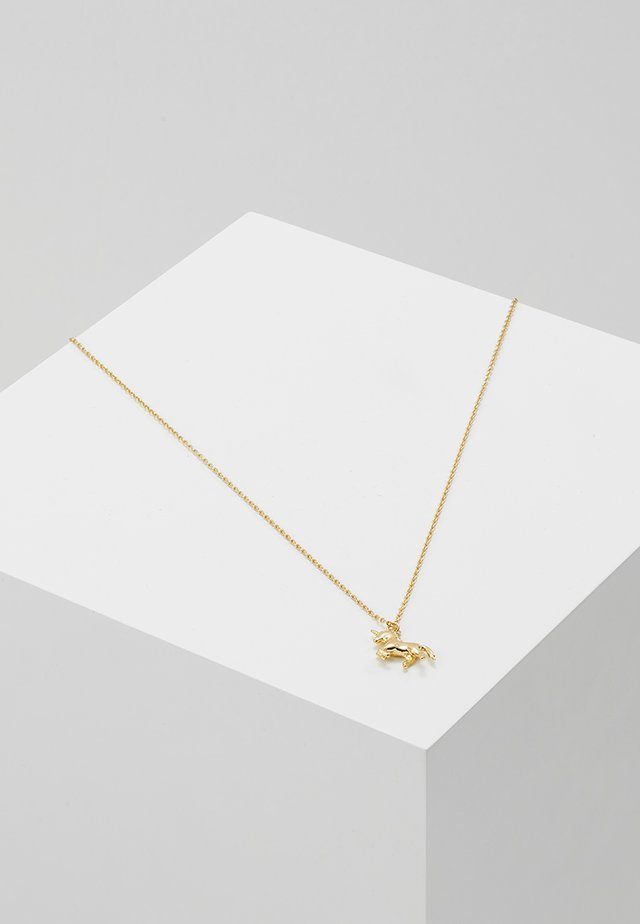 UNICORN DITSY NECKLACE - Halskæder - pale gold-coloured