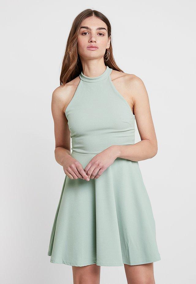 GO HIGH NECK SKATER DRESS - Sukienka koktajlowa - mint