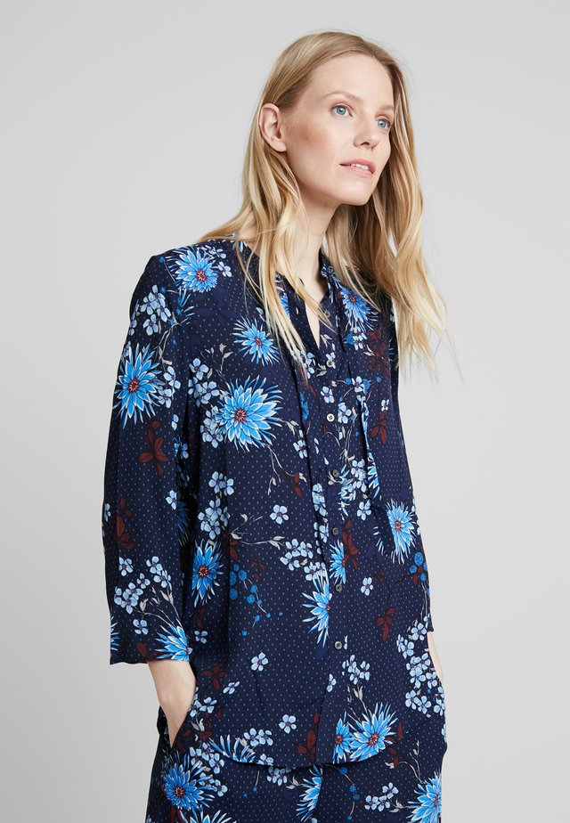 BLOUSE CREW NECK SMALL TAPE - Button-down blouse - combo