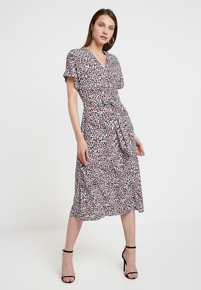 PRINT MIDI DRESS - Skjortekjole - white