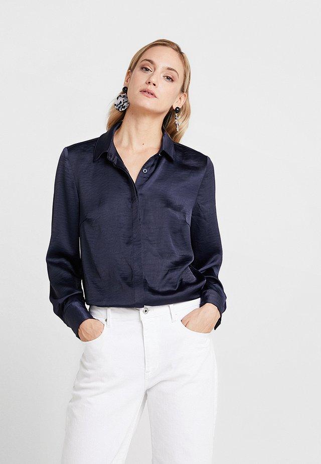 Button-down blouse - royal navy blue