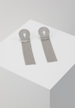 ROPE CHAIN DROP EARRING - Kolczyki - antique silver-coloured