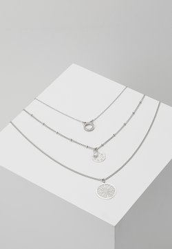 ONLFLARA 3 CHAIN NECKLACE 2 PACK - Halskette - silver-coloured