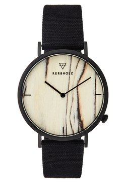 HENRI - Horloge - black/brichwood/black