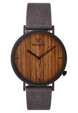 HENRI - Uhr - black/walnut/grey