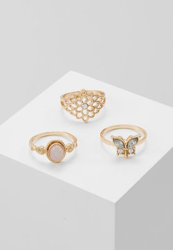 BUTTFLY 3 PACK - Ring - pink/gold-coloured