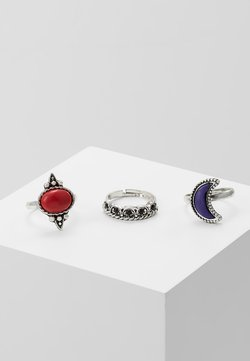 MOON RING 3 PACK - Ringe - silver-coloured
