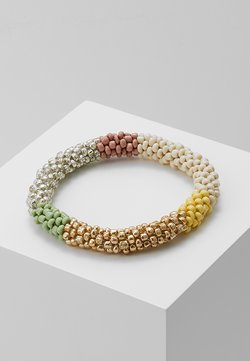 ONLLAYA  ROOLON BRACELET  - Armband - cloud dancer/yellow blush/ silver-coloured