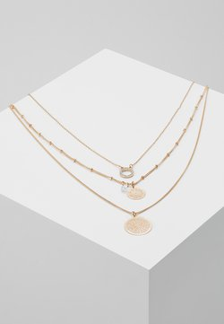 ONLFLARA 3 CHAIN NECKLACE 2 PACK - Ketting - gold-coloured