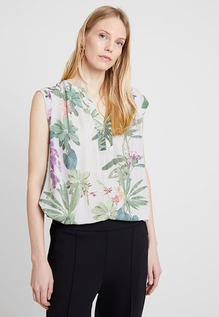 Bluse - taupe/green