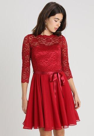 Cocktail dress / Party dress - weinrot