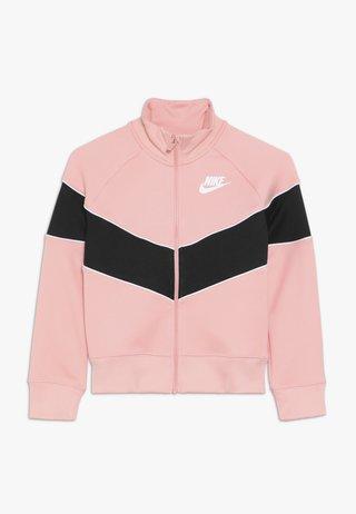 HERITAGE  - Zip-up hoodie - bleached coral/black/white