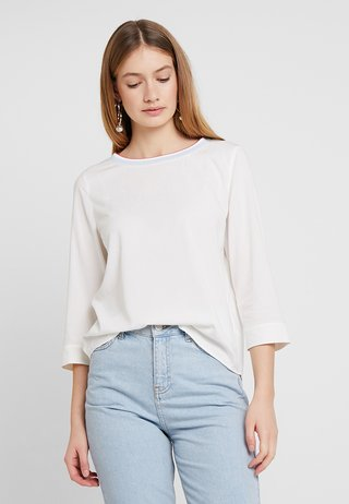 BLOUSE STYLE WITH TAPE - Blusa - optic white