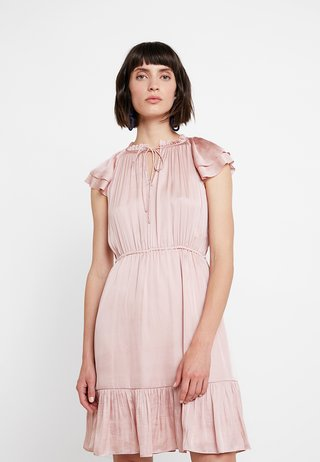 SOFT TIE NECK - Cocktailkjoler / festkjoler - blush
