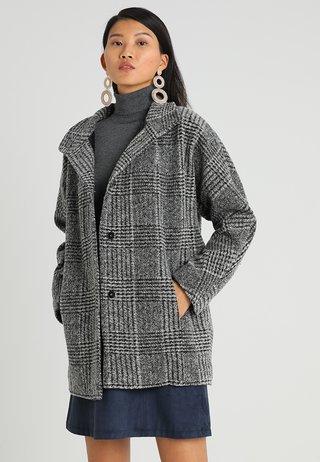 HOOVER CHECK - Kurzmantel - slate grey melange
