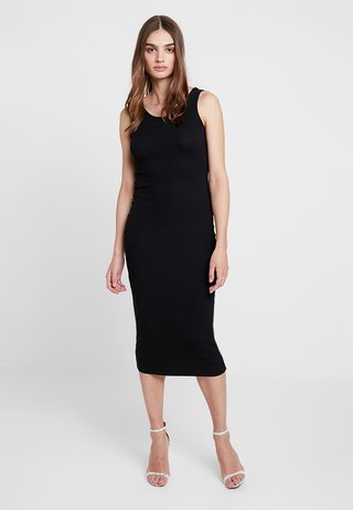 PLAIN LESS MIDI - Maxikjoler - black