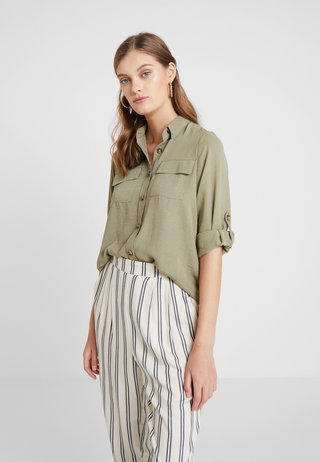 UTILITY  - Button-down blouse - khaki