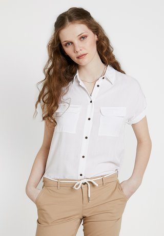 JEFF PATCH POCKET - Button-down blouse - off-white
