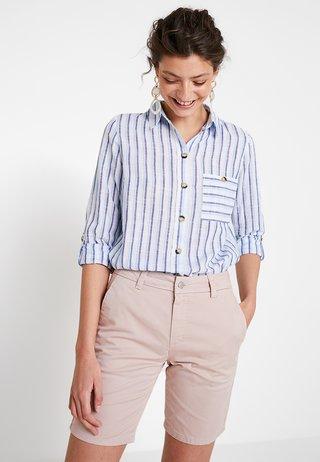 SLUB - Button-down blouse - navy