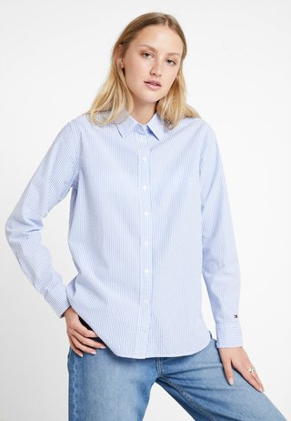 EBRU - Button-down blouse - blue