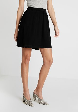 KADALUZ ANNA SKIRT - A-Linien-Rock - black deep