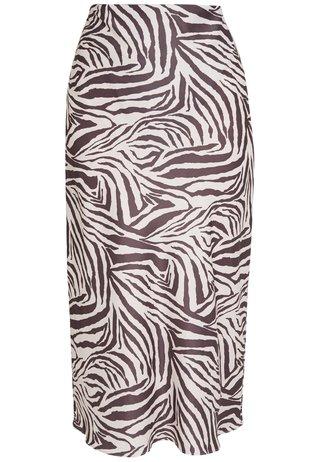 ZEBRA SKIRT - Jupe crayon - beige/black