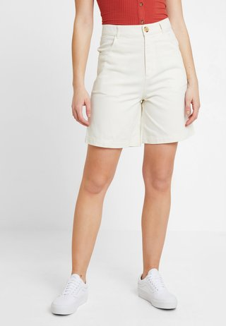NAZIR - Jeans Shorts - offwhite