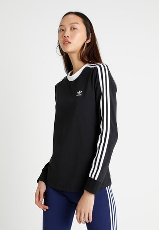 ADICOLOR 3 STRIPES LONGSLEEVE TEE - Langærmede T-shirts - black