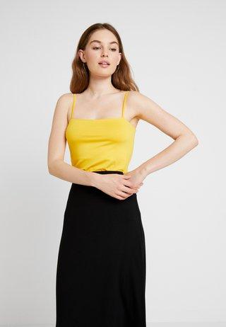 SQUARE NECK CAMI - Top - sunshine yellow